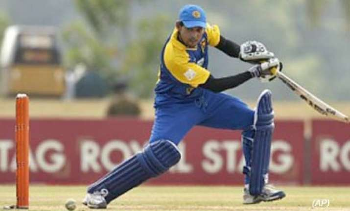 lankan put one foot in final with huge win over bangladesh