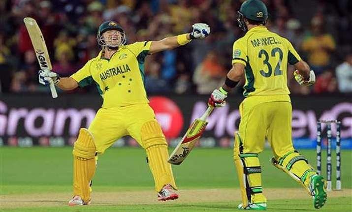 world cup 2015 australia beat pakistan set up clash
