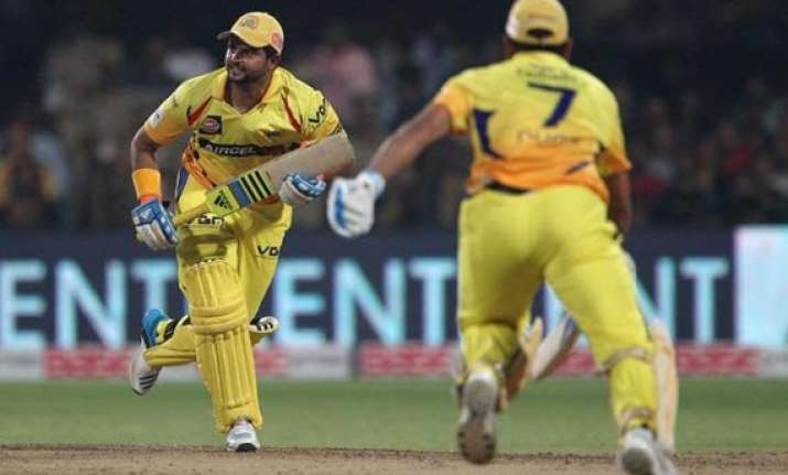 live reporting clt20 final raina s century leads csk to