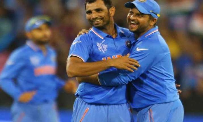 world cup 2015 shami is match fit bhuvi has heavy strapping