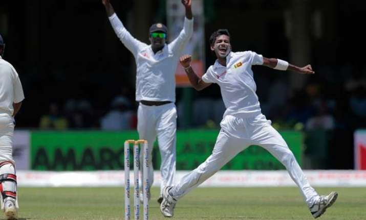 2nd test day2 india bowled out for 393 against sri lanka