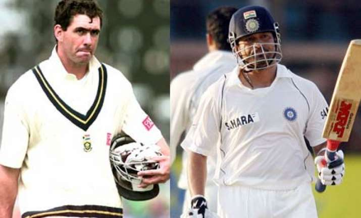cronje was the bowler who tested me the most tendulkar