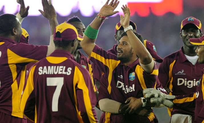west indies upset india by 16 runs to keep series alive