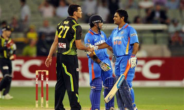 india revitalized by t20 win for first match of tri series
