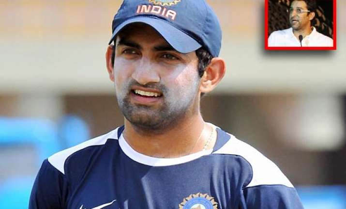 india will certainly miss gambhir s experience feels akram