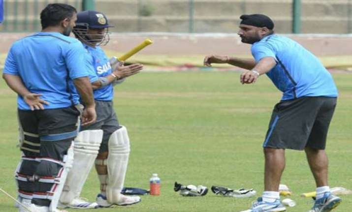 indian team go through a rigorous fielding drill