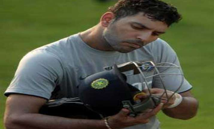 injured yuvraj rested from india s practice session