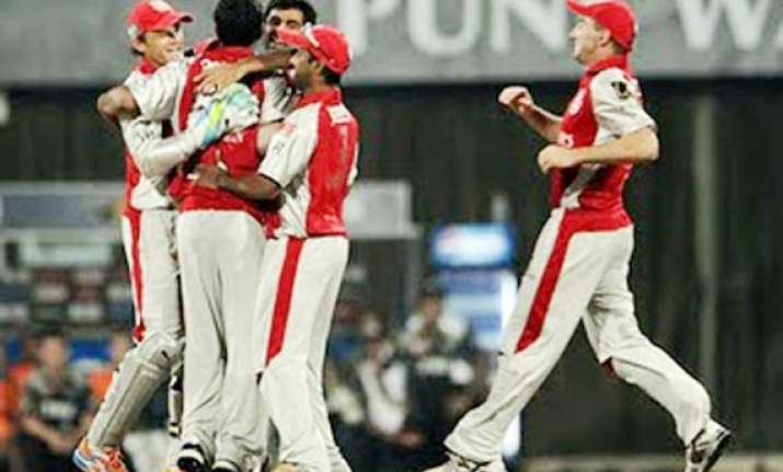 valthaty guides punjab to 8 wicket win over chargers