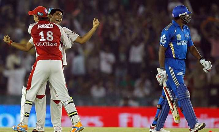 kings xi stay in play off hunt with upset win over mumbai