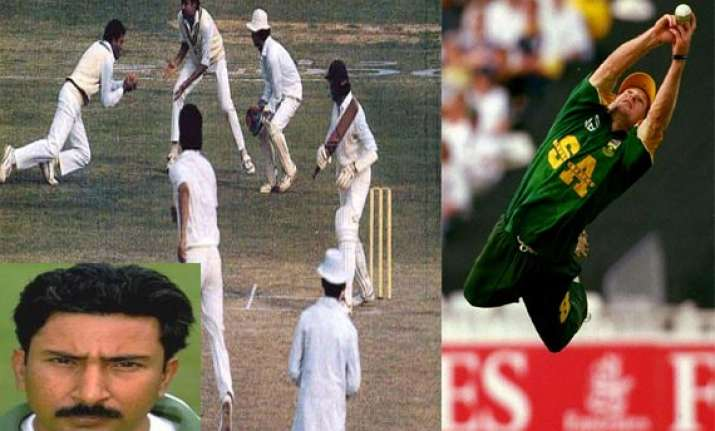 know top 10 fielders who took most catches in an innings