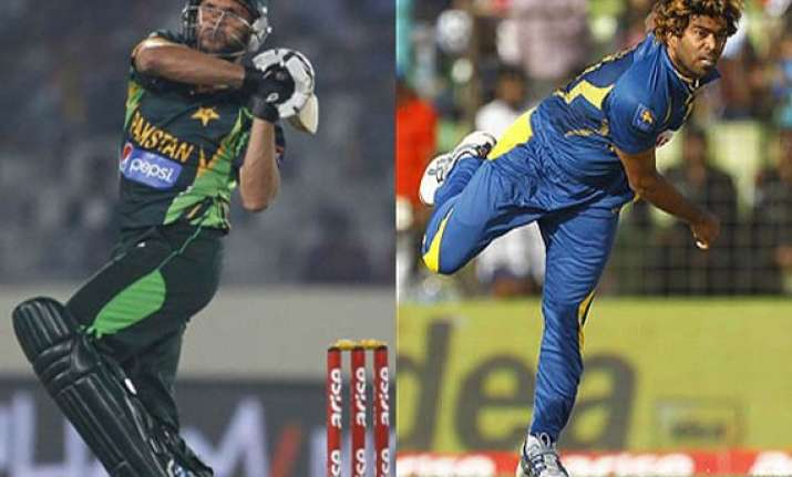 lasith malinga and shahid afridi the two face of fast and