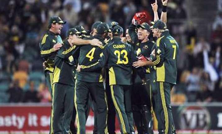 lorgat presents icc odi shield to australia
