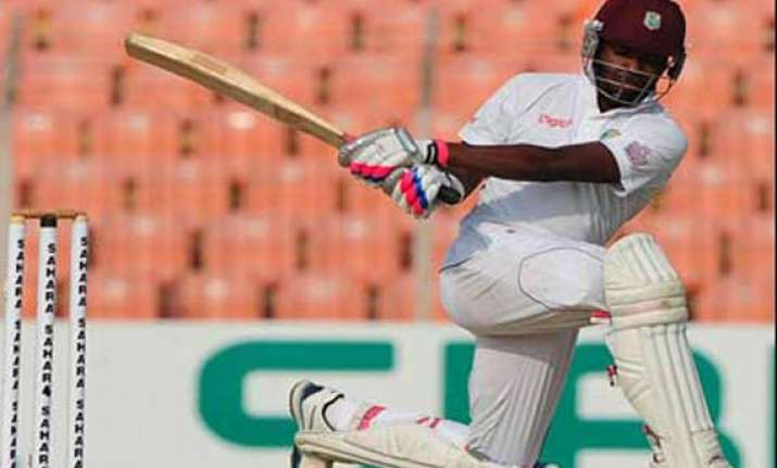 marlon samuels hits 260 to help west indies to 564 4