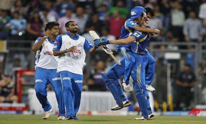 mumbai knock kkr out of ipl set up qualifier ii against rcb