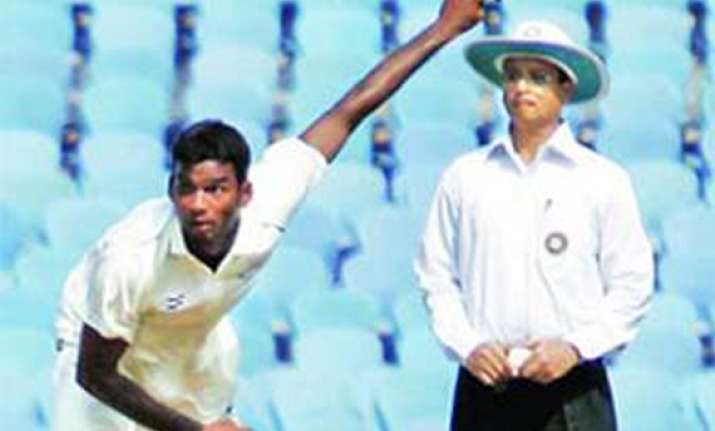 mumbai player javed khan takes two england wickets hours