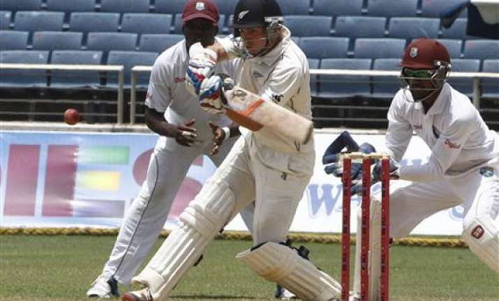 nz lead west indies by 342 at lunch on day 4 of 1st test