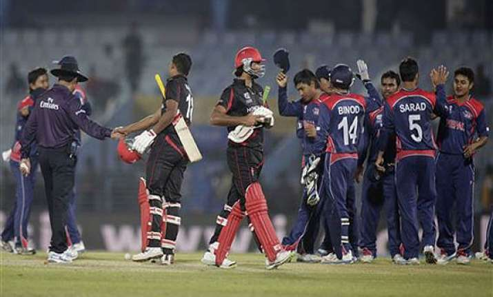 nepal impresses in 80 run win over hong kong.