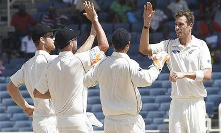 new zealand beats west indies by 53 runs to clinch test