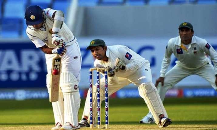 pakistan sri lanka series day 1 3rd test sri lanka 64 1 at