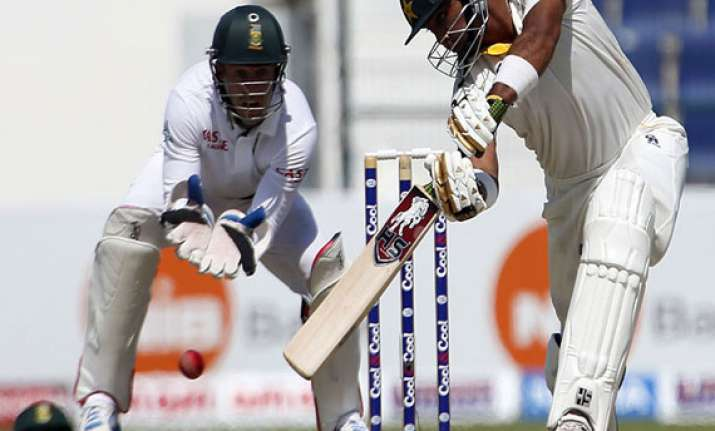 pakistan 155 1 at tea against south africa