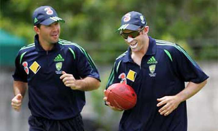 ponting hussey retained for 1st test vs india