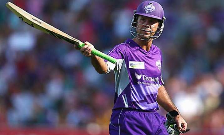 ponting in reckoning for big bash player of the tournament