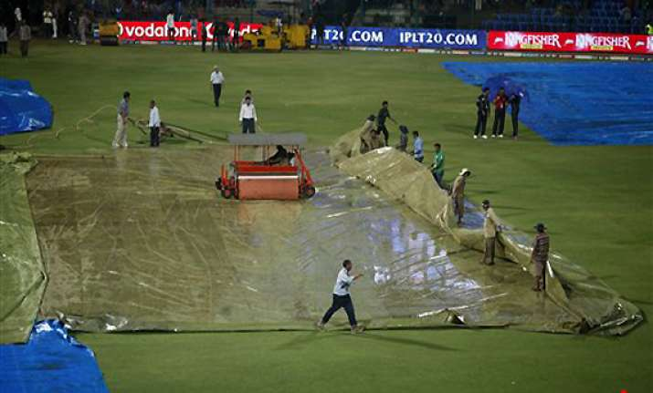 rcb vs csk tie called off after heavy downpour
