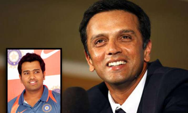 rahul dravid taught me to put price on my wicket says rohit