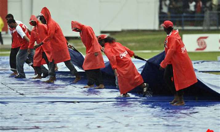 rain ends west indies victory chase test drawn