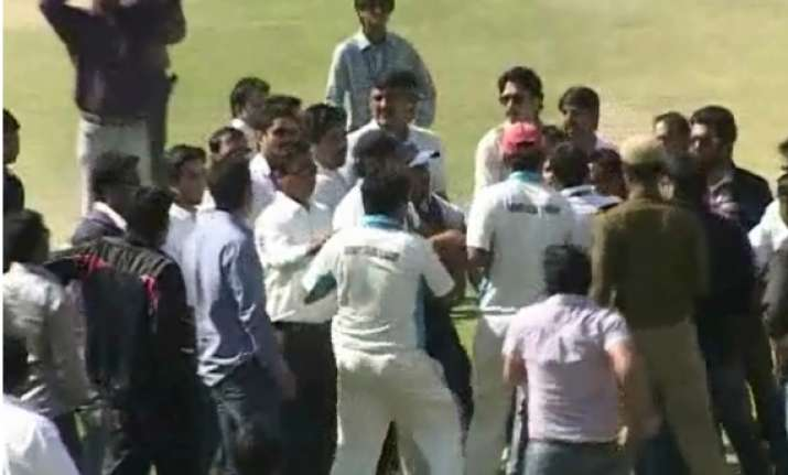 rajasthan ranji players fight during t20 match at udaipur