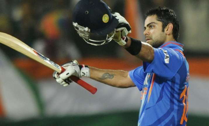 2nd odi virat rohit power india to a five wicket victory