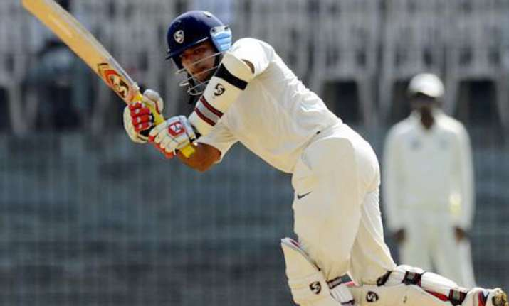 ranji final saxena hits double ton rajasthan 404 for 2 on