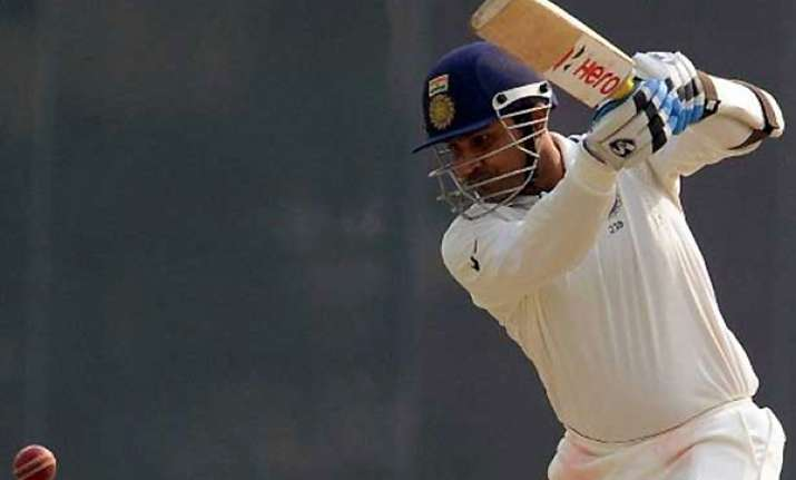 ranji trophy sehwag fighting to save delhi from outright