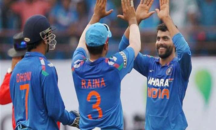 ravindra jadeja the highest wicket taker in odi in 2013