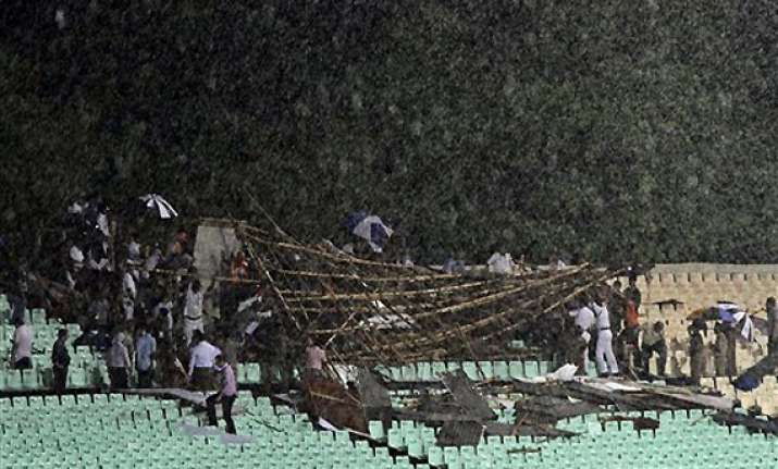 three injured as venue operations centre collapses at eden