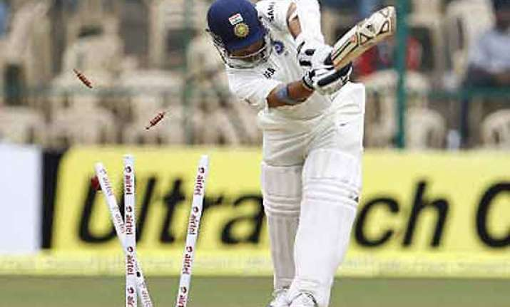 sachin tendulkar disappoints in ranji match bowled for five