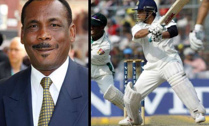 sachin could be batting even if he s on crutches greenidge