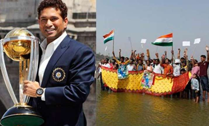 sachin wants to go out and see public reaction of wc triumph