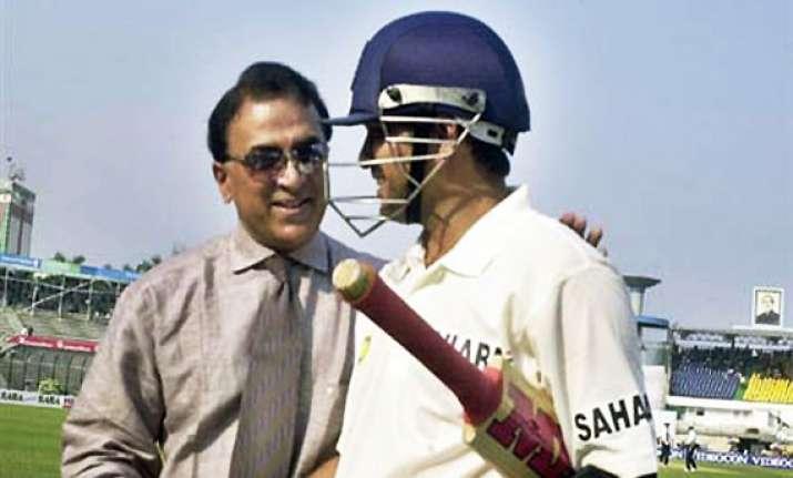 sachin getting runs is a good sign says gavaskar