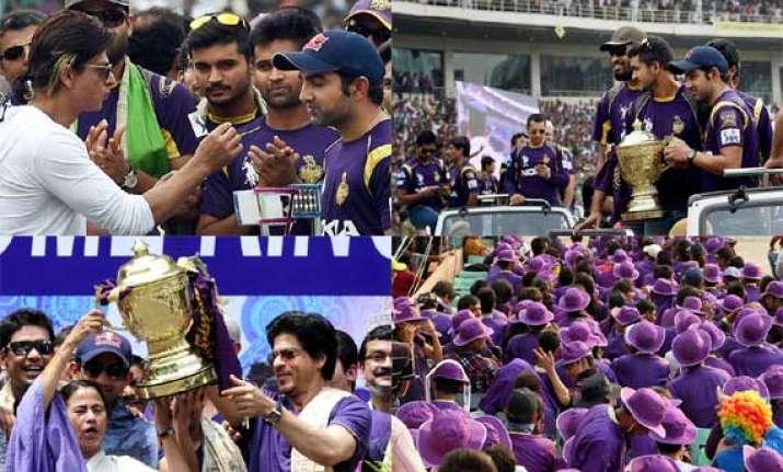 see pics when kolkata felicitated their ipl champions at