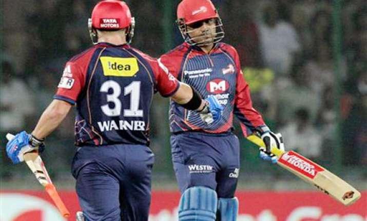 sehwag warner script delhi s much needed win