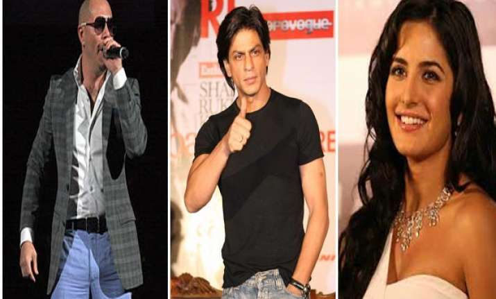 shahrukh katrina pitbull to rock ipl6 opening ceremony