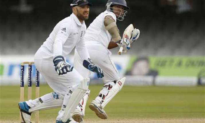 sri lanka 99 1 at lunch on 5th day set 390 to win