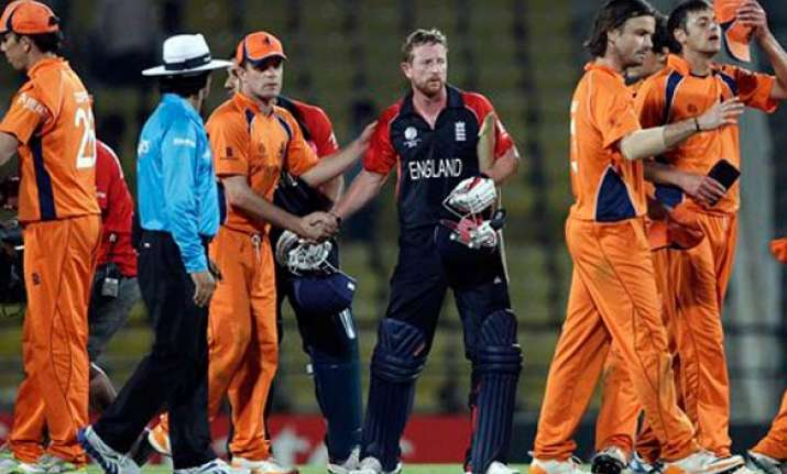 england toil hard to beat holland by six wickets in world