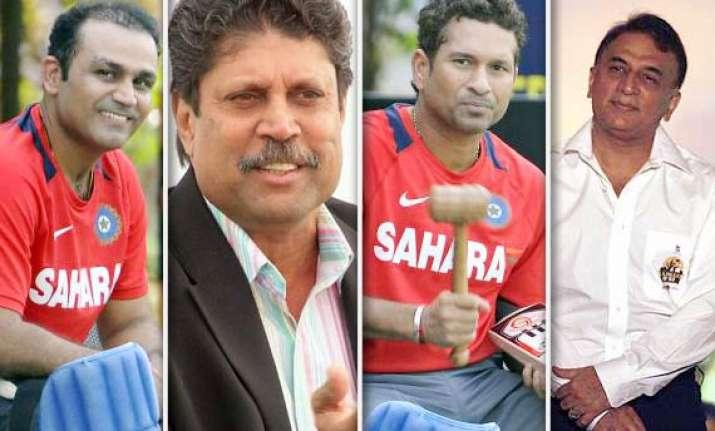 tendulkar kapil gavaskar sehwag named in all time test team