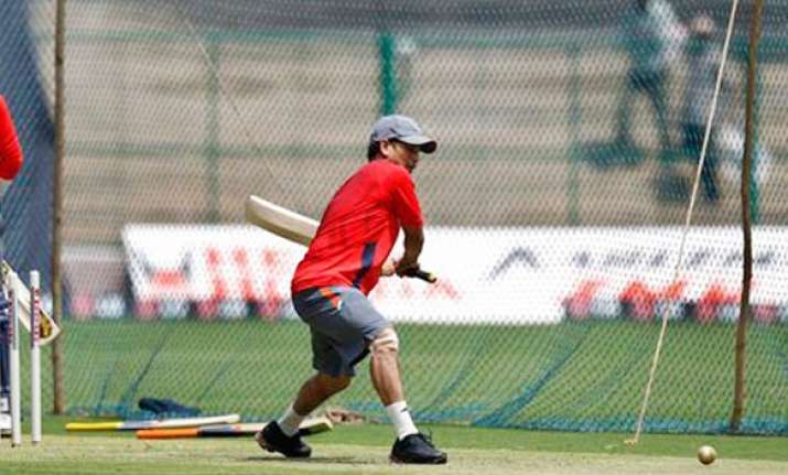 tendulkar surprises at practice session by batting left