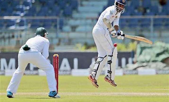 tharanga half century takes sri lanka to 104 3 against