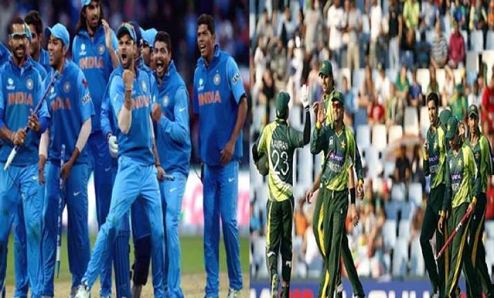 the evergreen rivarly of india pakistan cricket match.