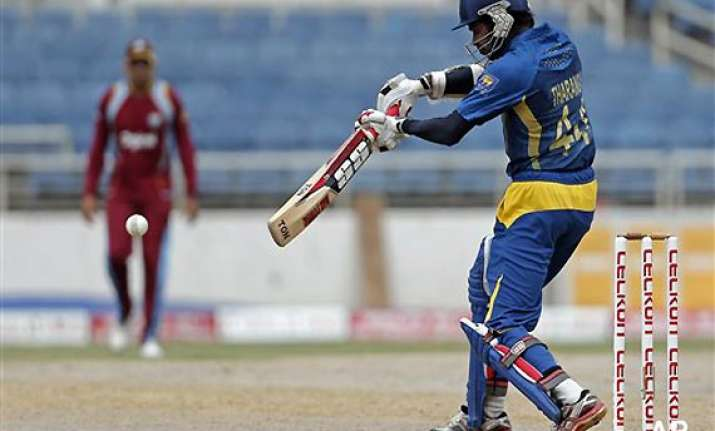 tri series west indies win toss elect to bowl against sri
