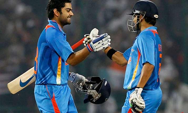 kohli gambhir power india to an emphatic 8 wkt win
